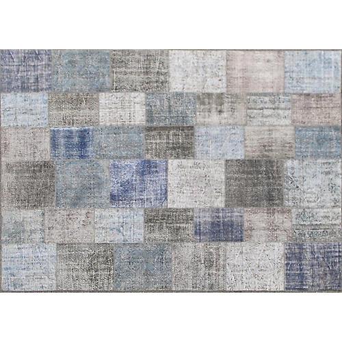 """Turkish Patchwork Carpet, 10'3"""" x 14'1"""""""