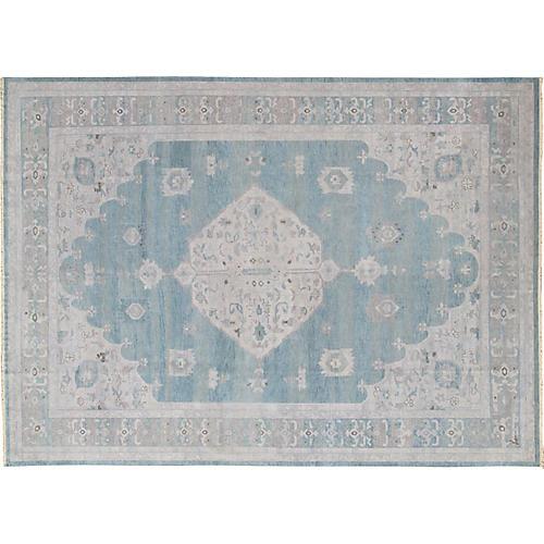 Seafoam Oushak Carpet, 10' x 14'
