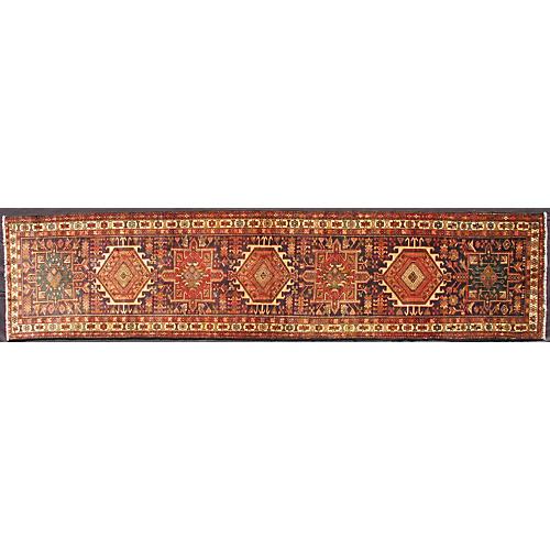 Persian Heriz-Karajeh Runner, 3' x 13'