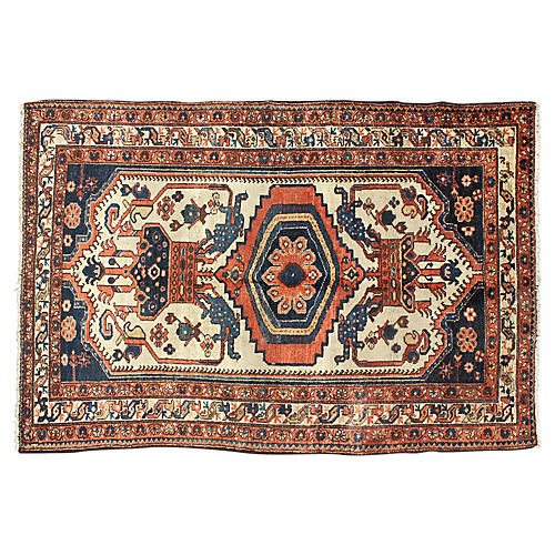 "Persian Malayer Rug, 4' x 6'4"""