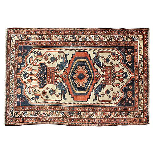 "Antique Persian Malayer Rug, 4' x 6'4"""