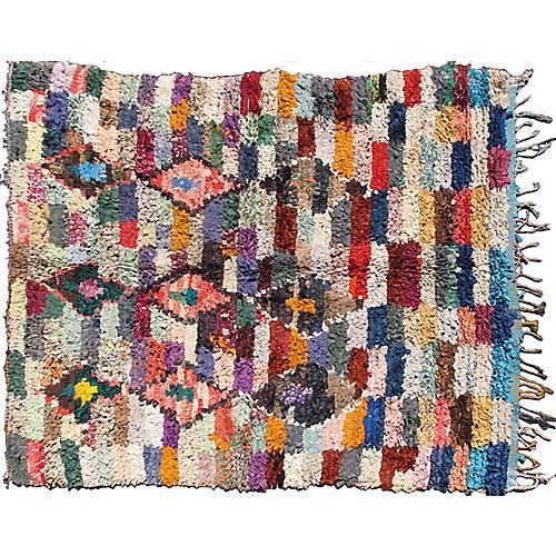 "Vintage Moroccan Berber Rug, 5'2"" x 6'7"""
