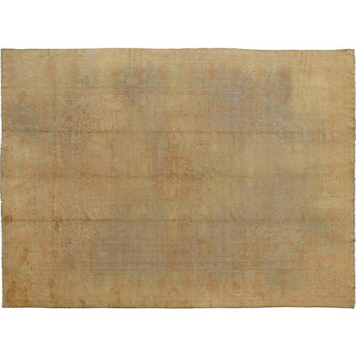 """Antique Oushak Carpet, 10'10"""" x 14'7"""""""