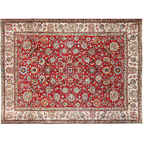 """Persian Tabriz Rug, 8'2""""x 10'8"""""""