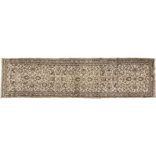 "Persian Tabriz Runner, 2'8"" x 11'4"""