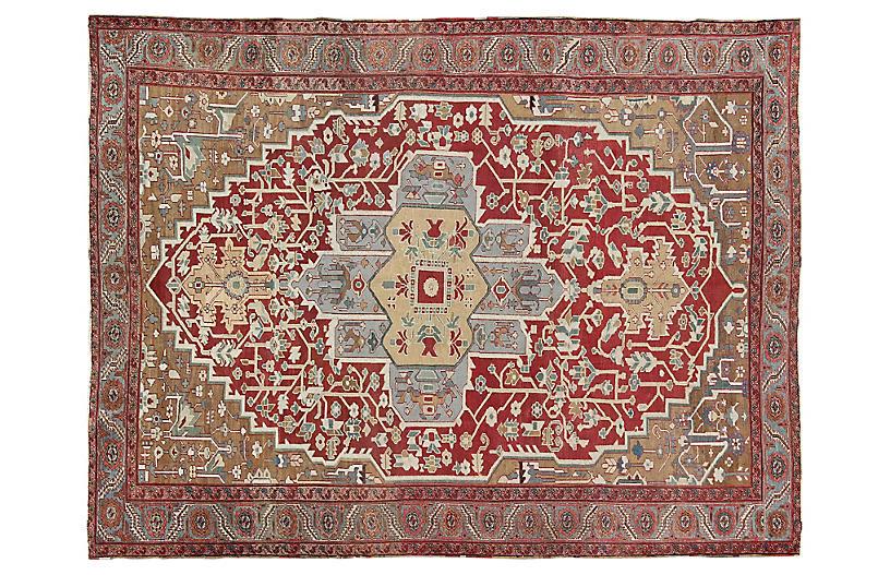 Antique Serapi Carpet, 9' x 11'7