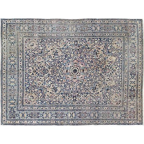 """Antique Khorassan Carpet, 10' x 12'10"""""""