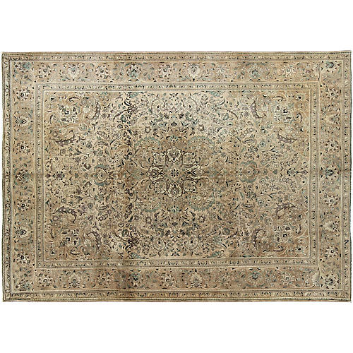 "Vintage Persian Tabriz , 9'8"" x 13'1"""