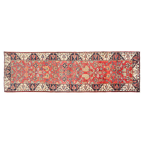 "Wide Persian Runner, 4'1"" x1 3'10"""