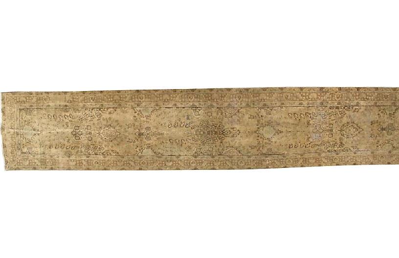 Long Persian Tabriz Runner, 3'1 x 16'3