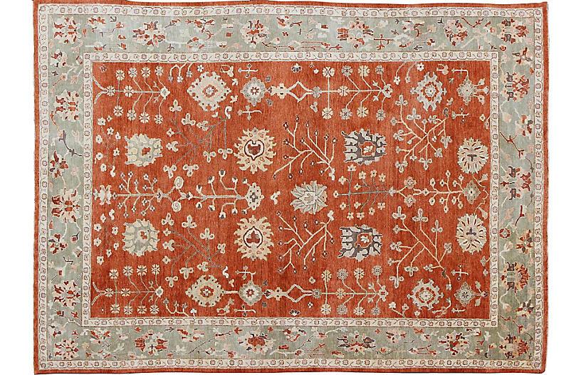 Oushak Carpet, 10' x 13'10