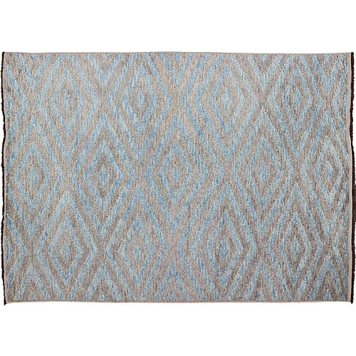 Light Blue-Gray Moroccan Rug, 10' x 14'