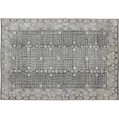 Gray Khotan Rug, 10' x 14'