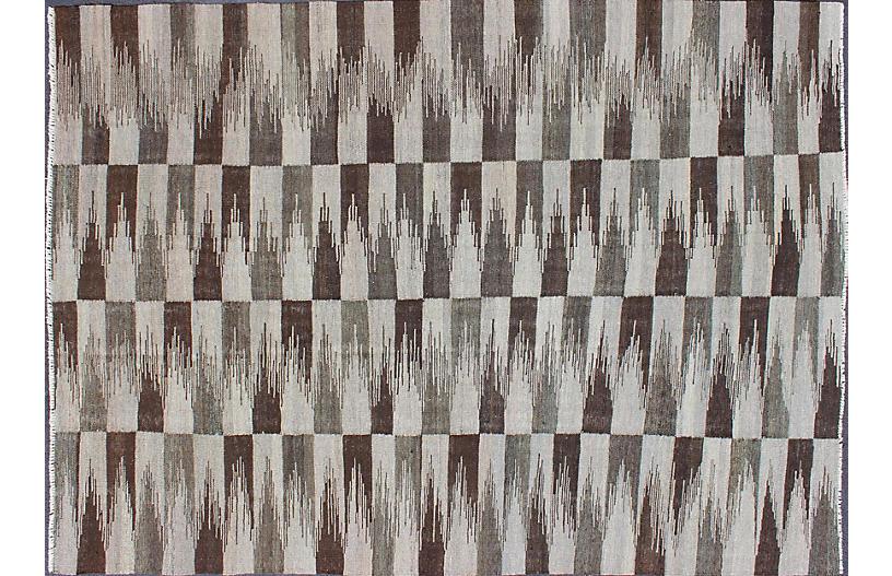 Natural color Flat-Weave Kilim 5'7 x 8'2