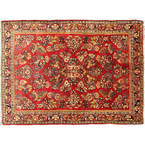 Antique Persian Sarouk Rug, 3'4 x 4'9