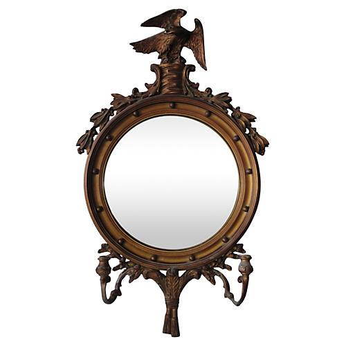 Federal Giltwood Convex Girandole Mirror