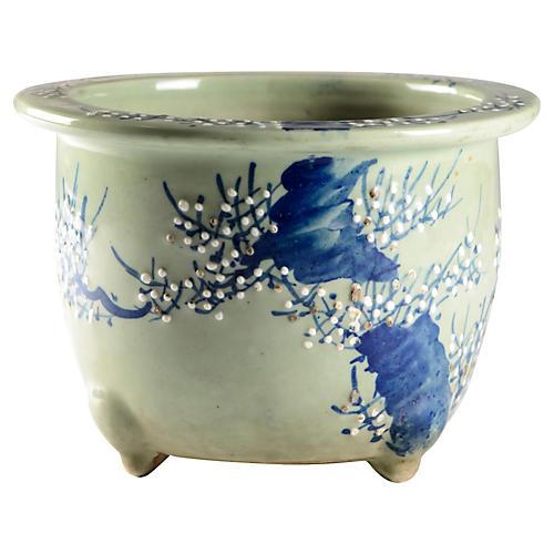 Antique Porcelain Plum Tree Planter