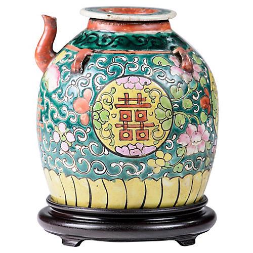 Antique Famille Vert Teapot