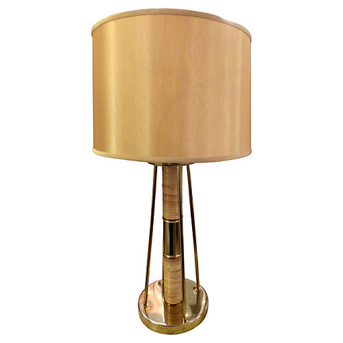 Brass & Bamboo Table Lamp