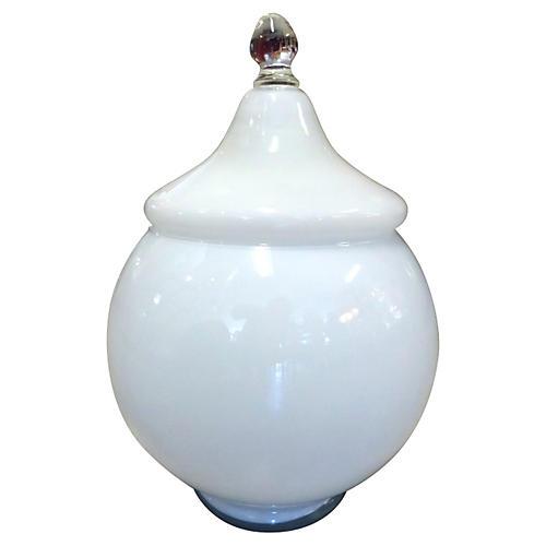 Lidded Murano Bowl
