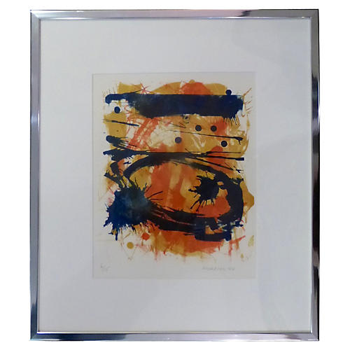 Lithograph Signed Middleton '64