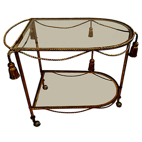 Gilded Bar Cart