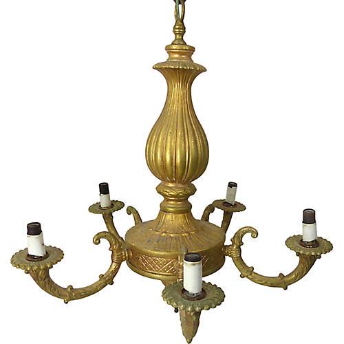 Gold 5-Light Chandelier
