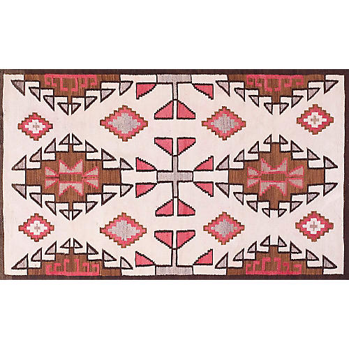 "Navajo-Style Rug, 3'6"" x 6'"