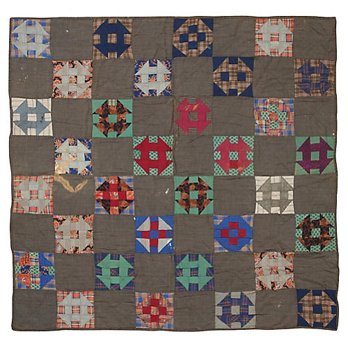 Geometric Quilt, 6' x 6'