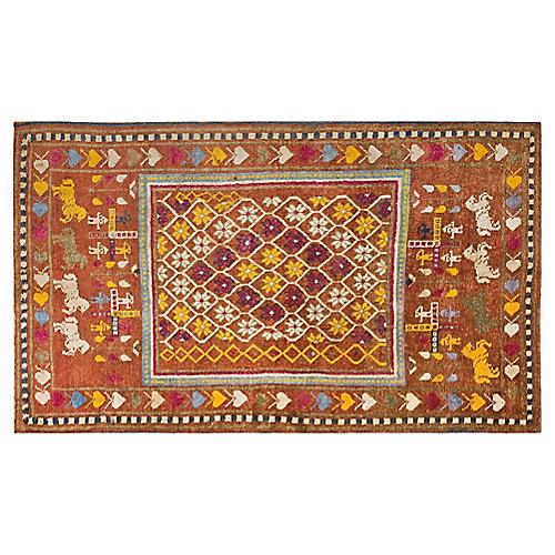 "Cotton Agra Rug , 4'2"" x 6'10"""