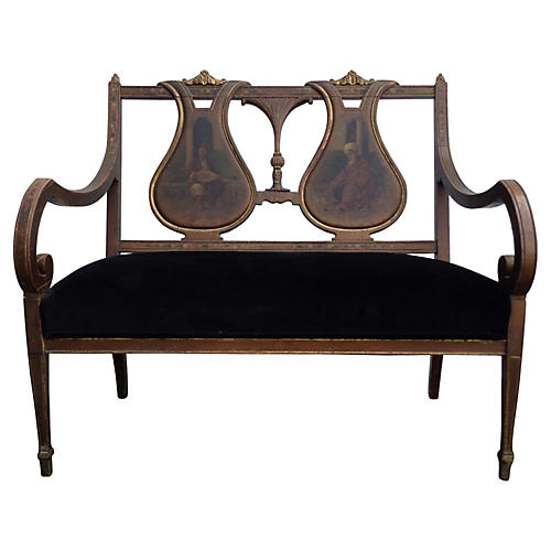 Hand-Painted French Settee