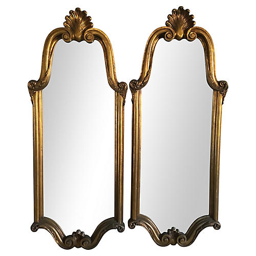 Giltwood Mirrors, Pair