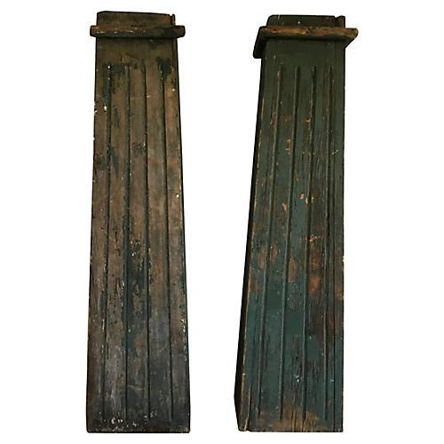 Green Painted Pillars, S/2
