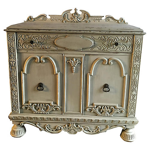 Hand-Carved Cabinet