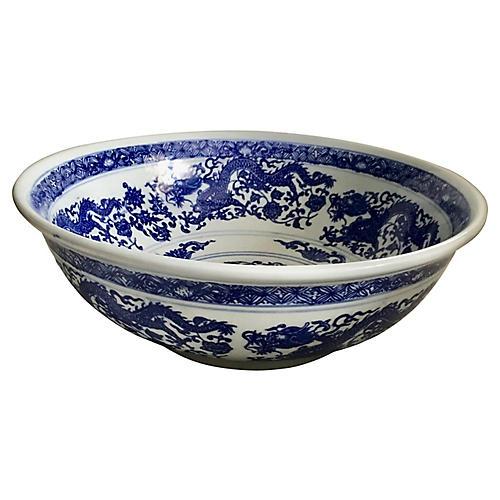 Blue & White Dragon Bowl