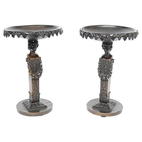 Bronze Tazzas, Pair