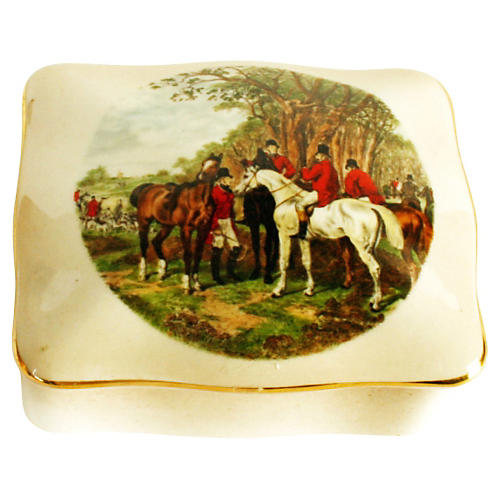 Royal Worcester Porcelain Hunt Box
