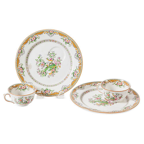 John Maddock & Sons Tea Plates, Set of 2