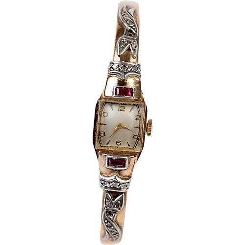 Gold, Diamond & Ruby Ladies' Watch