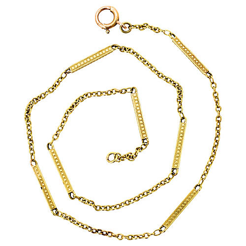 14K Solid Gold Watch Chain