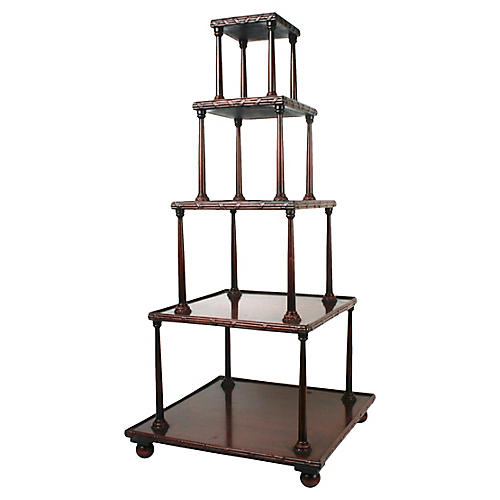 Ribbon and Reed Table Top Etagere
