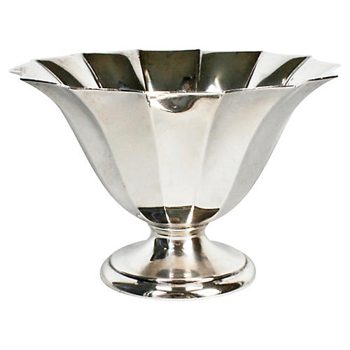Gorham Fluted Sterling Silver Candy Dish