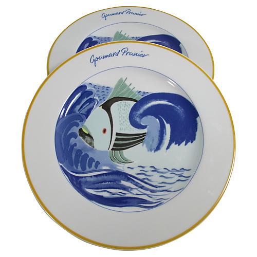 Bernardaud Paris Restaurant Plates, S/2
