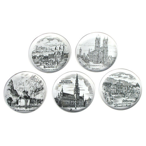 European Landmark Bistro Plates, S/5