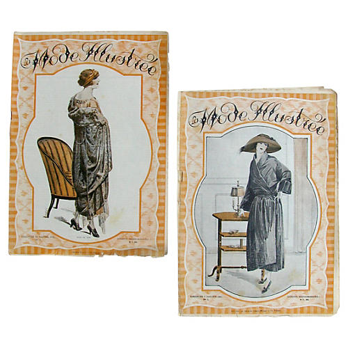 French Fashion Periodicals c.1920, Pair