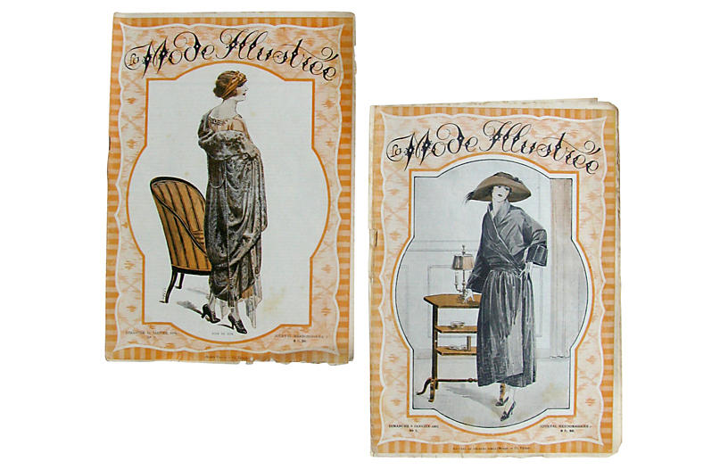 C.1920 French Fashion Periodicals, Pair