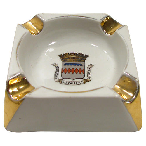French Armorial Advertising Ashtray