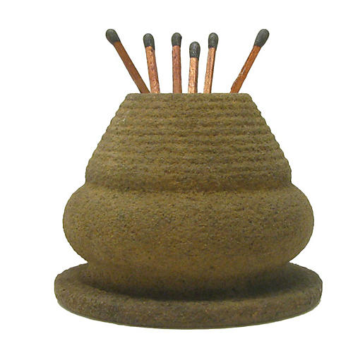 French Beehive Pottery Match Striker