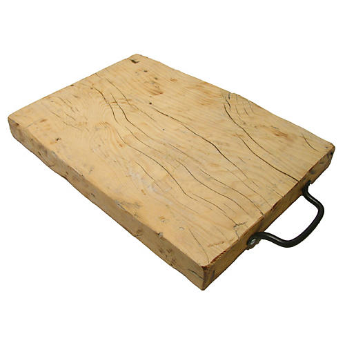 French Cheese Board With Iron Handle