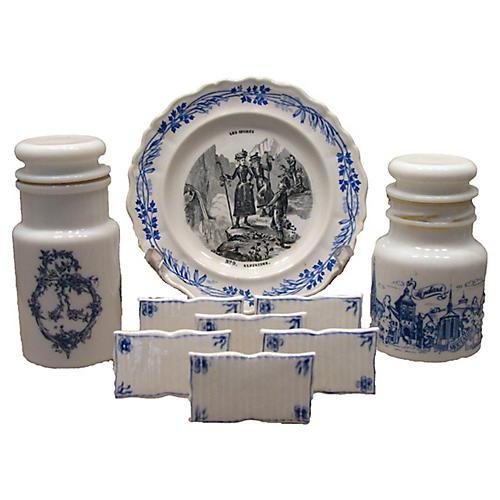Blue & White Transferware Collection S/9